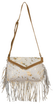 Load image into Gallery viewer, golden Girl  Hair-on Leather Bag