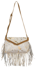 golden Girl  Hair-on Leather Bag