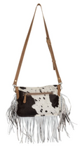 Load image into Gallery viewer, Silky Route Hair-on Leather Bag