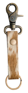 Straight Leather Key Fob