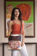 Load image into Gallery viewer, Red Velvet Shoulder Bag