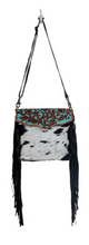 Load image into Gallery viewer, Aqua Hand-Tooled Bag