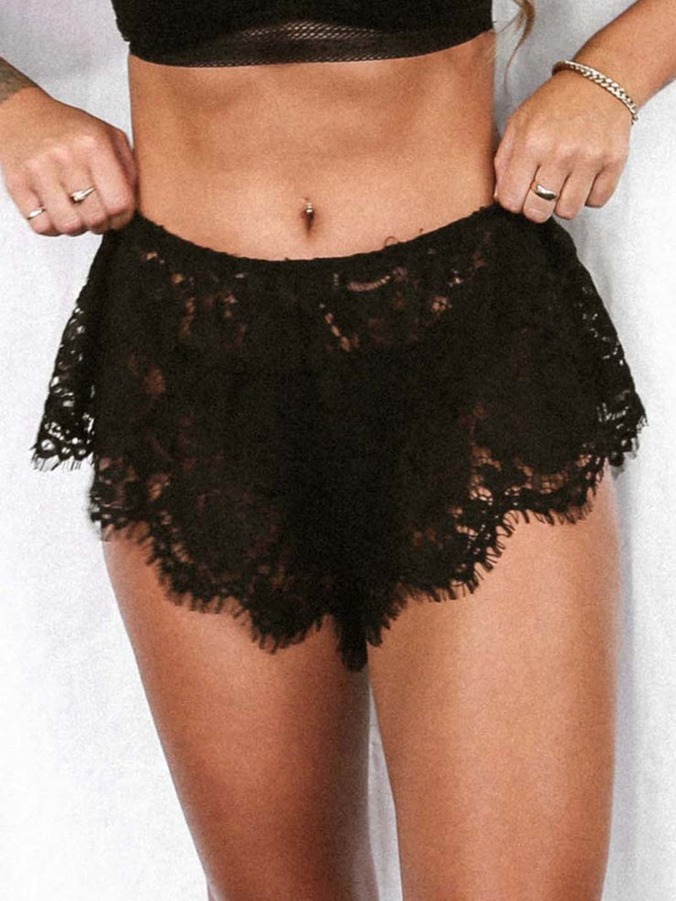 Sinner Lace Short - Black