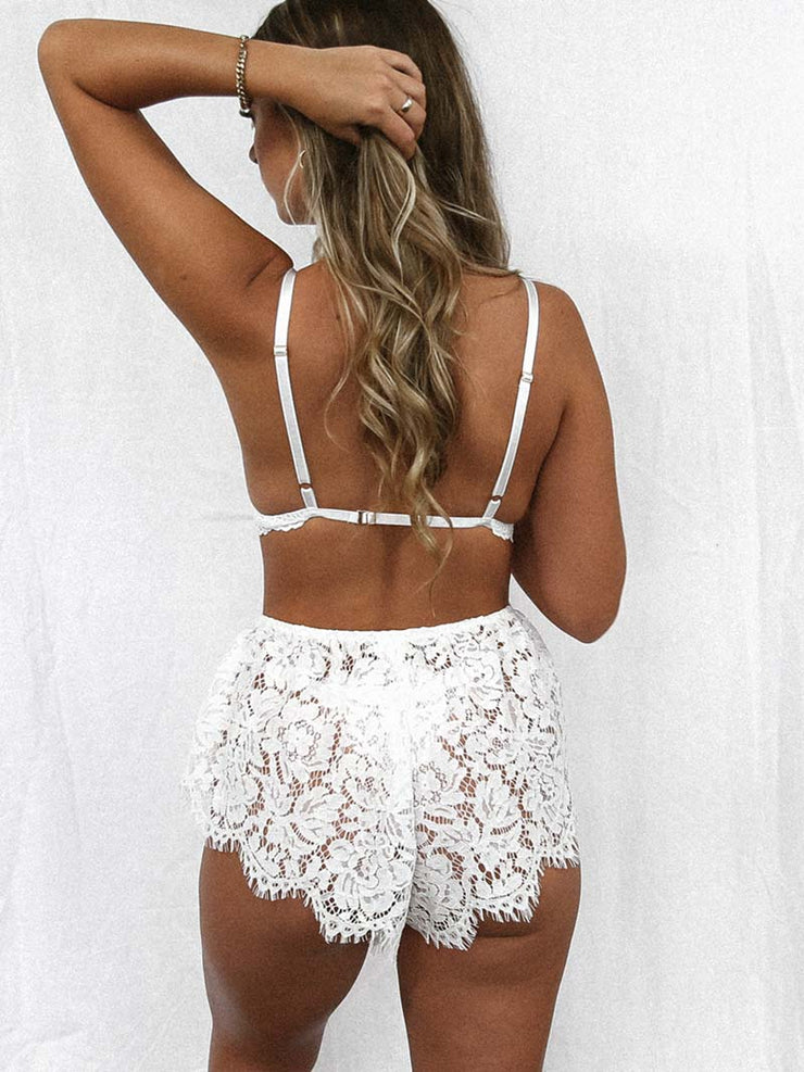 Sinner Lace Short - White SOLD OUT