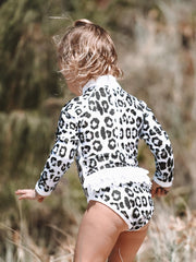 Shell One Piece - Snow Leopard