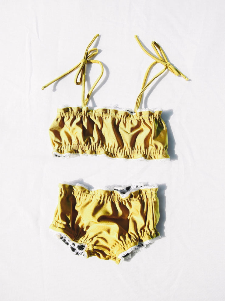 "Mermaid Bikini - Stardust / Snow Leopard ""Reversible"""