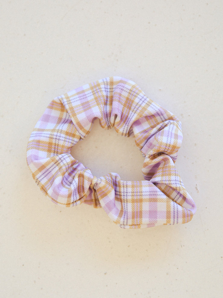 Scrunchie - Plaid & Lilac