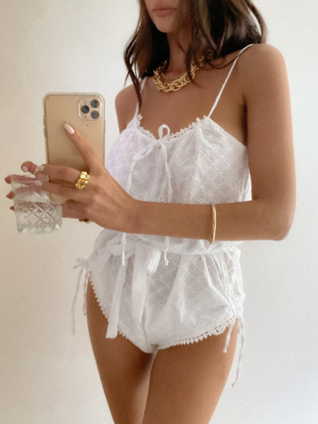 Primrose Teddy - White