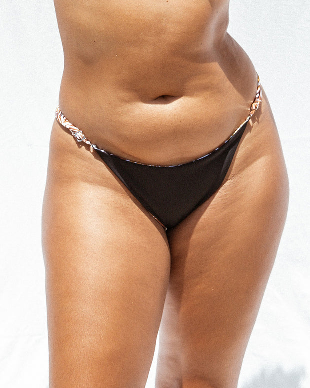 Lulu Bottom - Zebra / Black Ribbed