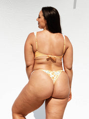 "Cuba Bottom - Apricot Speckle / Vintage Floral ""Reversible"""