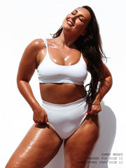 "Yummy Mummy Bottom - Bahamas White ""Reversible"""