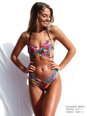 Farrah Top - Hawaiian Midnight ''Reversible''