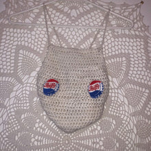 Load image into Gallery viewer, Pepsi Crochet Top,TopMindFlowers