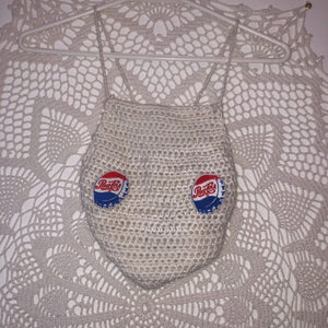 Pepsi Crochet Top,TopMindFlowers