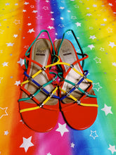 Load image into Gallery viewer, Technicolor Vintage Sandals