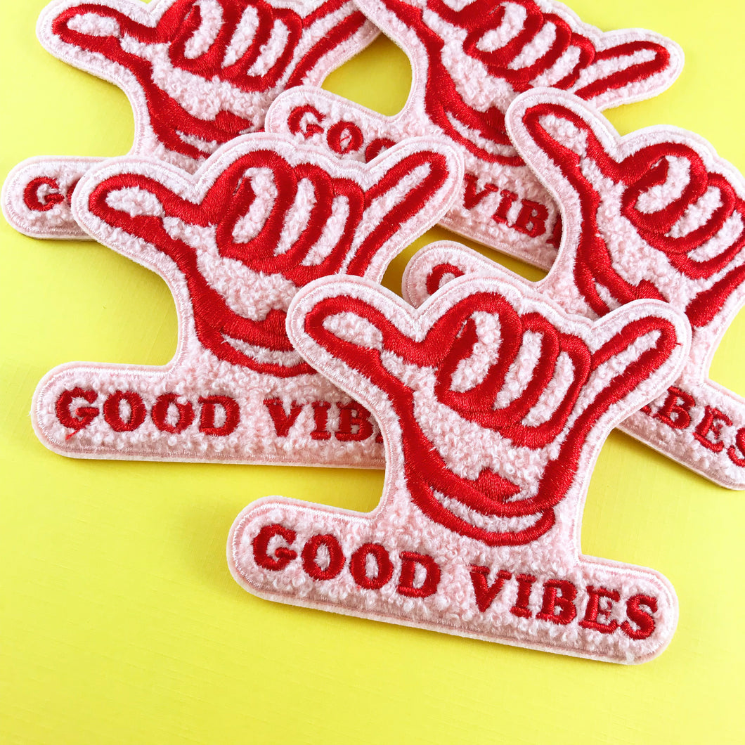 Good Vibes Chenille Patch,FlairMindFlowers