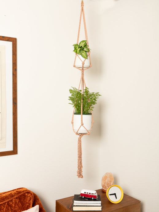 The Dusty Macrame Double Plant Hanger