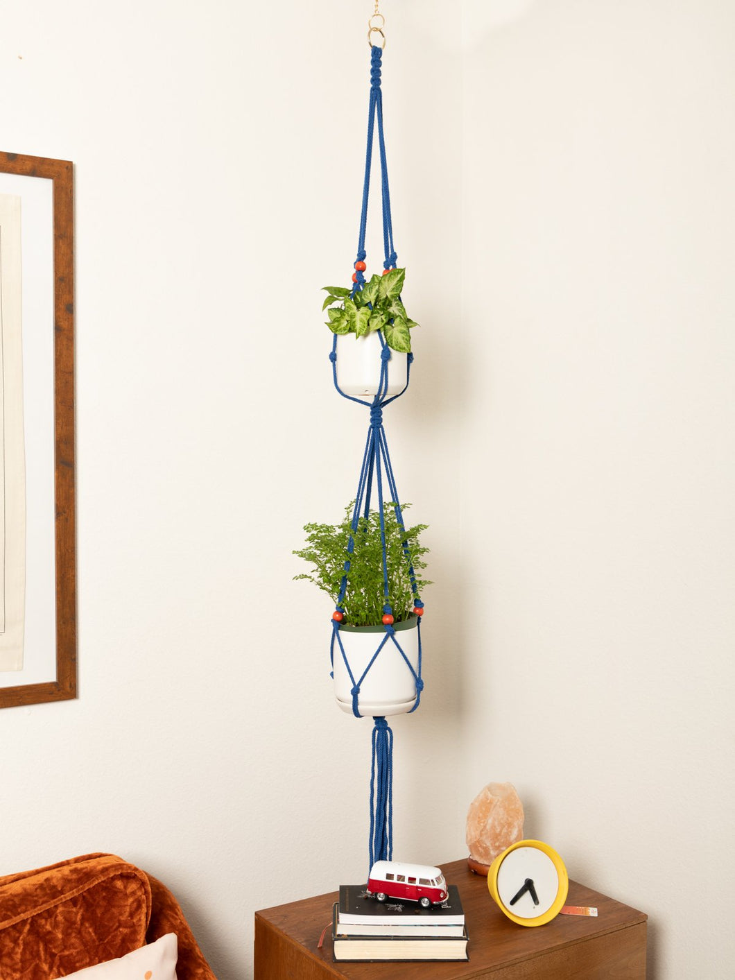 The Linda Macrame Double Plant Hanger