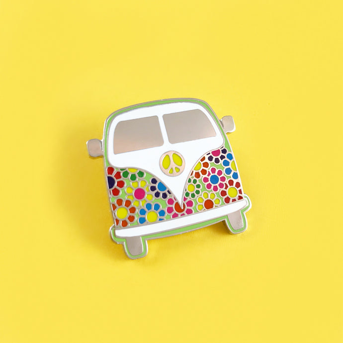 Hippie Van Enamel Pin,FlairMindFlowers