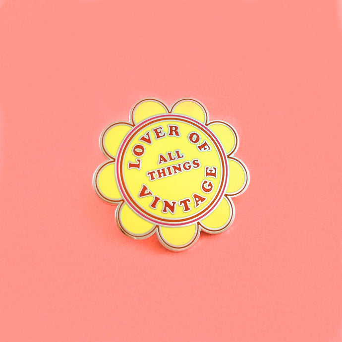 Lover of Vintage Enamel Pin,FlairMindFlowers