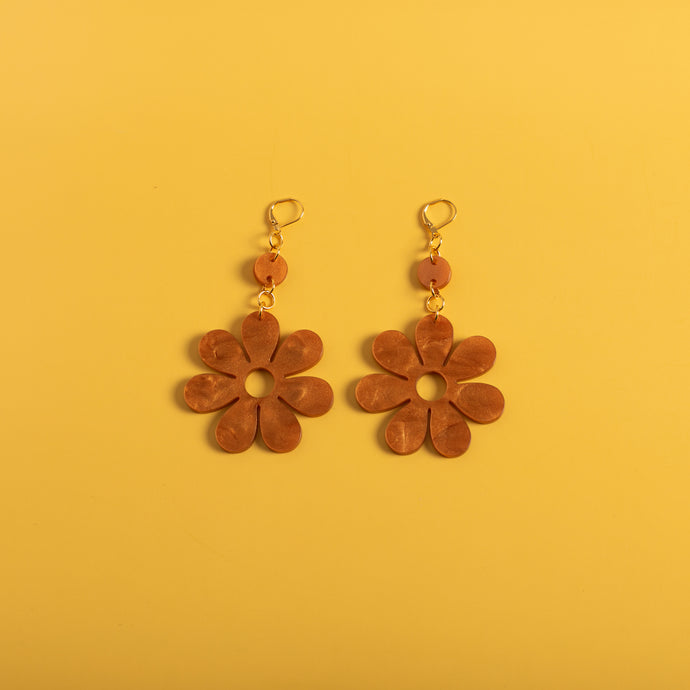 The Hazey Dazey Dot & Chain Earrings