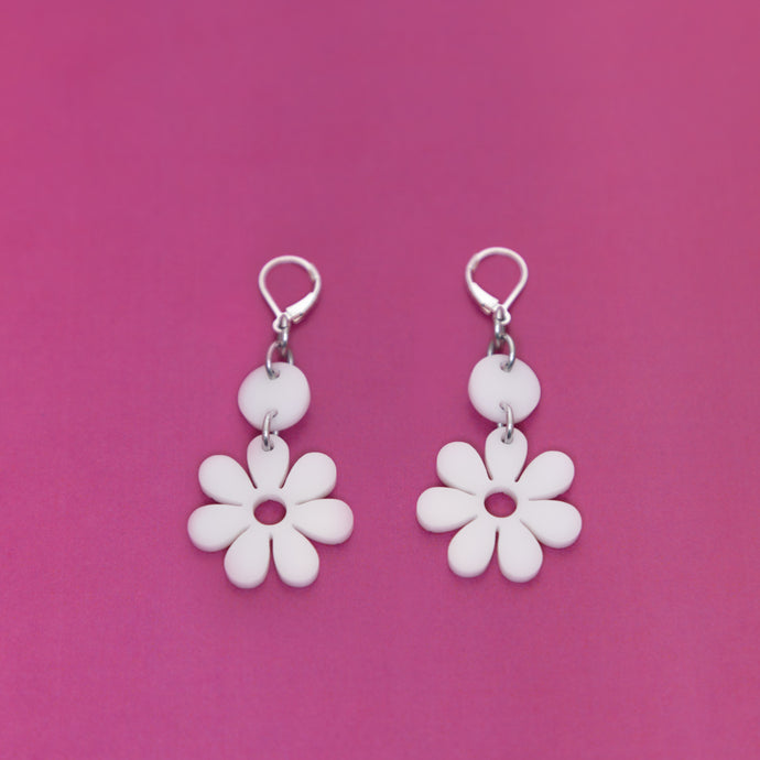 The Baby Hazey Dazey Dot & Chain Earrings,EarringMindFlowers