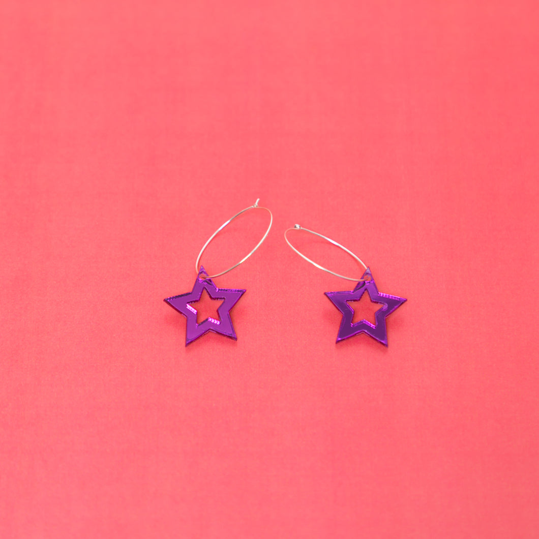 Starception Hoop Earring,EarringMindFlowers