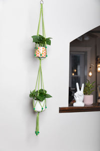 The Petal Double Macrame Plant Hanger