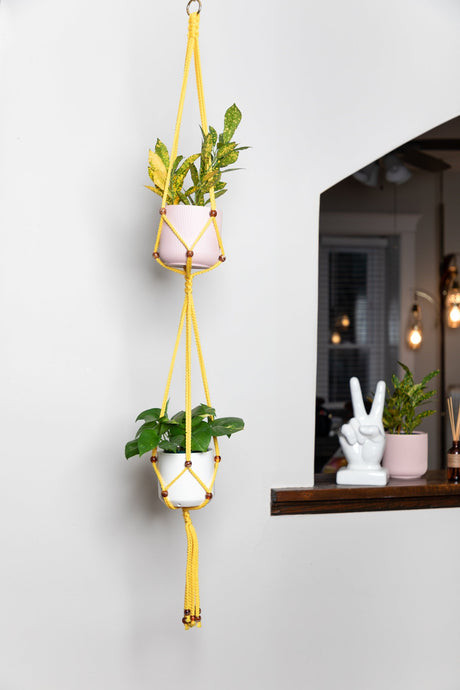 The Daylight Double Macrame Plant Hanger