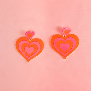 Free Love Hanging Stud Earrings,EarringMindFlowers