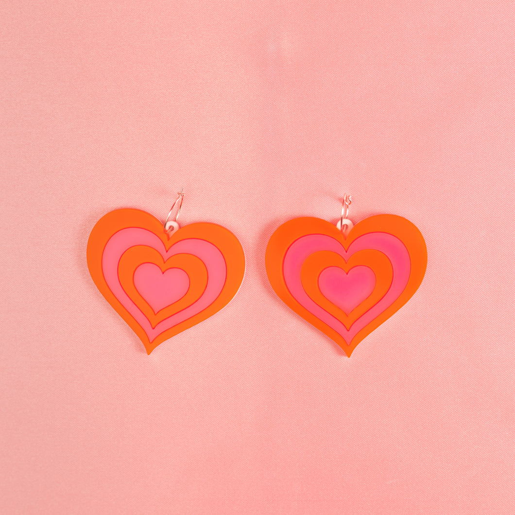 Free Love Hoop Earrings,EarringMindFlowers