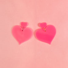 Load image into Gallery viewer, Heart 2 Heart Hanging Stud Earrings,EarringMindFlowers