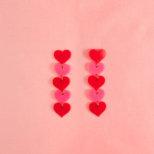 Love Chain Stud Earrings,EarringMindFlowers