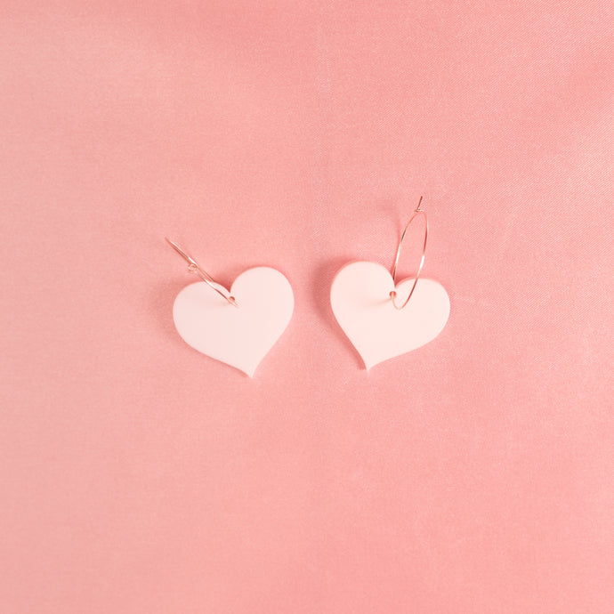 Love Heart Hoop Earrings,EarringMindFlowers