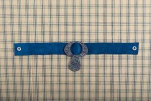 Blue Suede Choker Necklace,ChokersMindFlowers