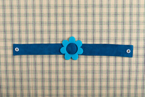 Blue Suede Choker Necklace