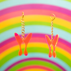 The Nova ButterFly Chain Earrings,EarringMindFlowers