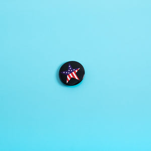 Stars & Stripes Button Pin,FlairMindFlowers