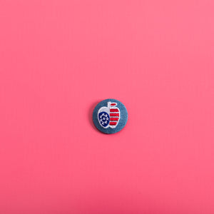 American Pie Button Pin,FlairMindFlowers