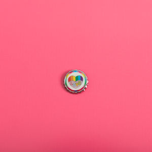 Rainbow Love Button Pin,FlairMindFlowers