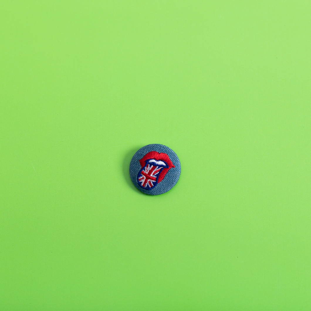 It's Only Rock 'N Roll Button Pin,FlairMindFlowers