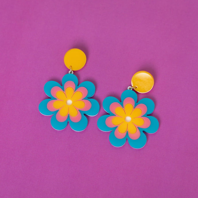 The Candy Daisy Hanging Stud Earrings,EarringMindFlowers