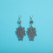 Load image into Gallery viewer, The MindFlower Dot & Chain Earrings