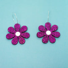 Load image into Gallery viewer, The Daisy Hoop Earrings,EarringMindFlowers