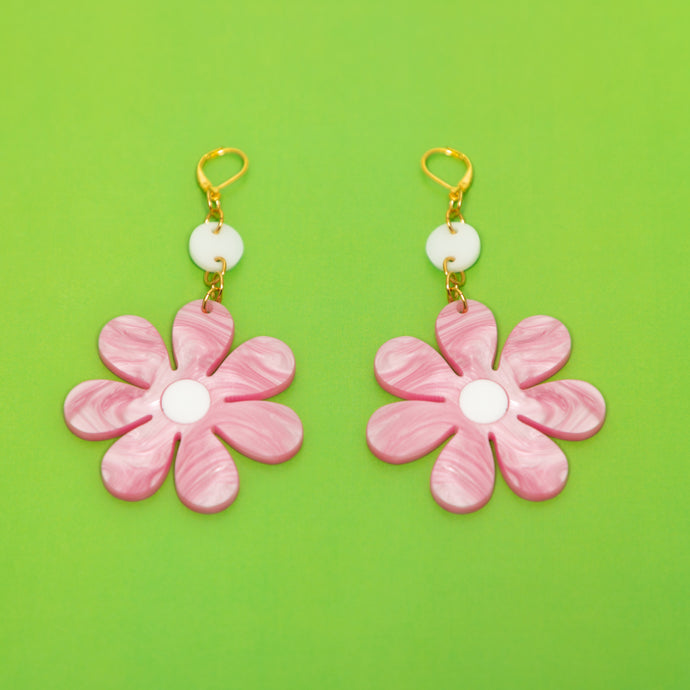 The Daisy Dot & Chain Earrings,EarringMindFlowers