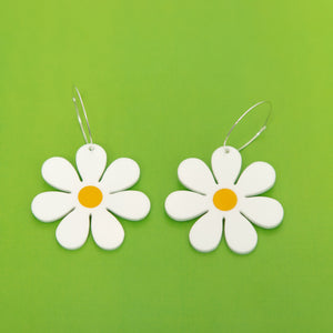 The Daisy Hoop Earrings,EarringMindFlowers
