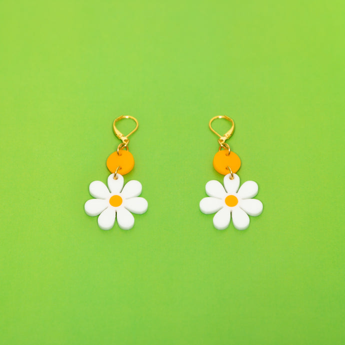 The Baby Daisy Dot & Chain Earrings,EarringMindFlowers