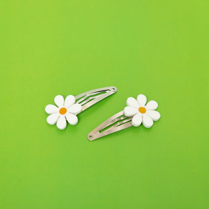 The Baby Daisy Hair Barrettes,EarringMindFlowers