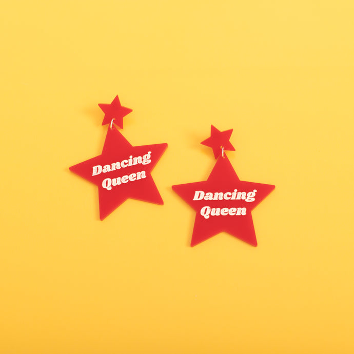 Dancing Queen Star Stud Earrings,EarringMindFlowers