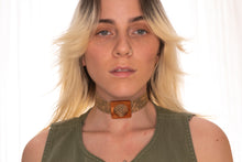 Load image into Gallery viewer, Brown Python Choker Necklace,ChokersMindFlowers
